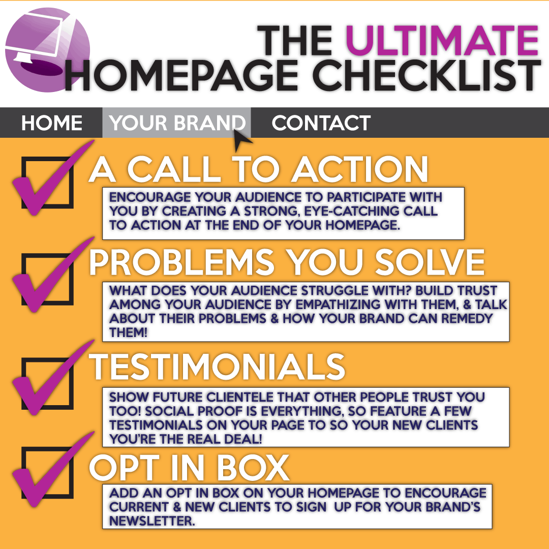 perfect your homepage with this checklist