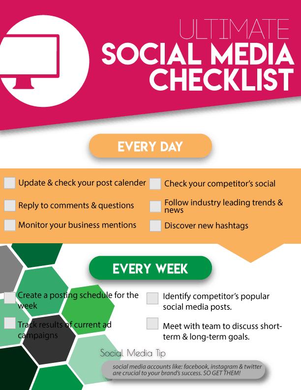 Social Media Digital Marketing Checklist